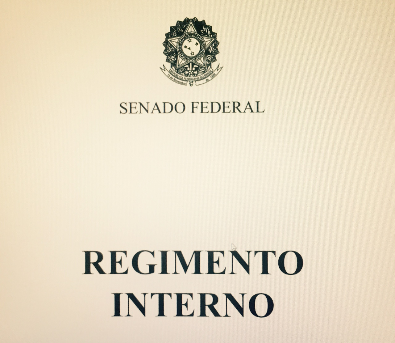 Regimento Interno - Capa
