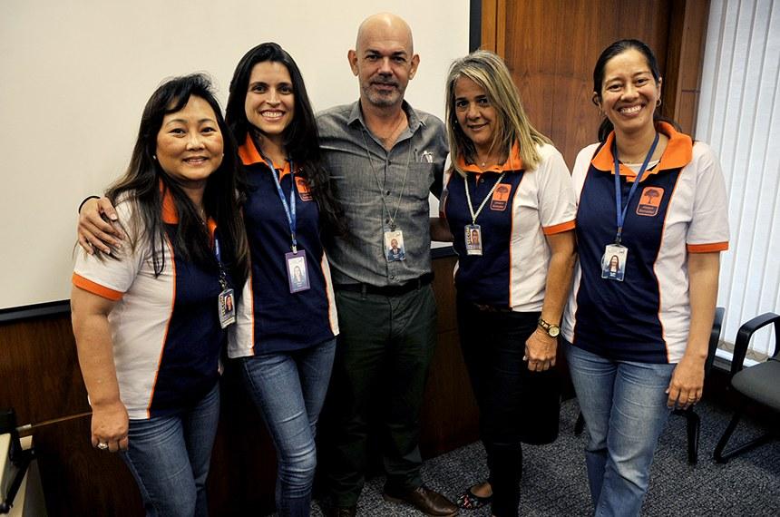 Equipe do Jovem Senador: Rose Kuroiwa, Amana Veloso, Antônio Carlos Burity, Simonete Queiroz e Aline Krettli.