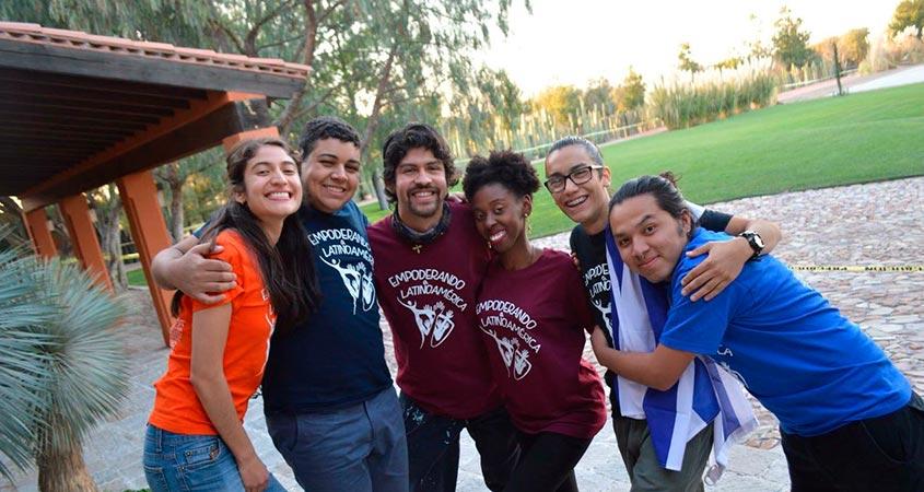 Pedro Manoel e os amigos do curso no México