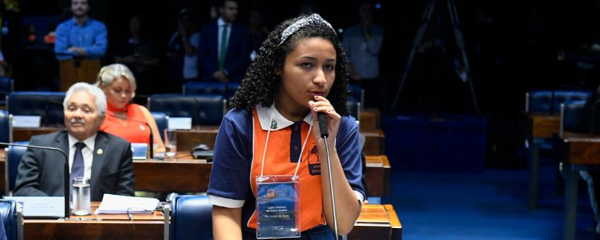 Estudante do Rio Grande do Norte é a presidente do Jovem Senador 2019