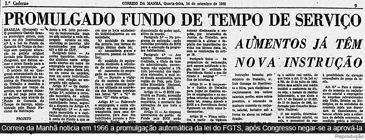 Em 1967, FGTS substituiu estabilidade no emprego