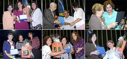 [Foto: agraciadas do Prêmio Diploma Mulher-Cidadã Bertha Lutz]