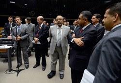 [Deputado Paulo Pereira da Silva anuncia desistência da obstrução. - Foto: Ana Volpe / Agência Senado]