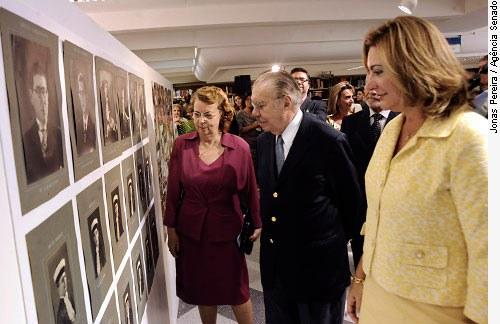 Presidente José Sarney, com Carmen Gramacho e Simone Vieira