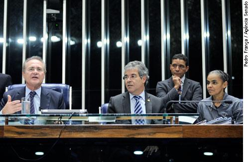Em visita ao Senado, Marina Silva critica projeto que dificulta criação de novos partidos