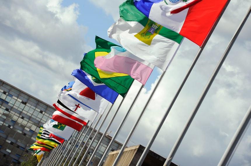 Alameda dos Estados, que fica em frente ao Congresso Nacional, em Brasília