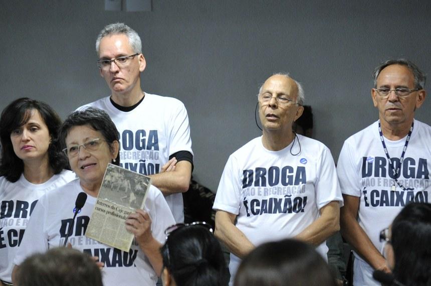 Na reunião do dia 22 de setembro, Maria Alice da Costa, mãe de uma usuária, integrou o grupo contrário à liberação da maconha para uso recreativo