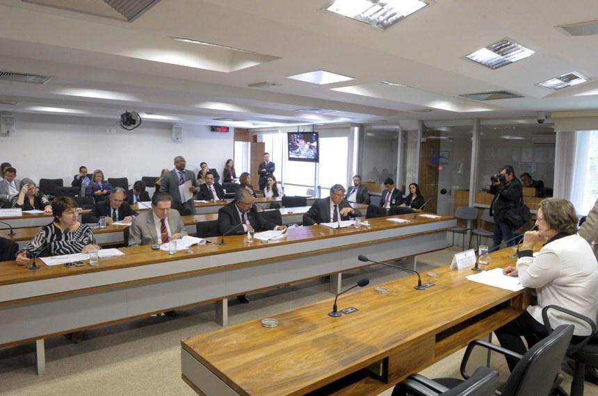 A reunião da CE foi presidida pela senadora Maria do Carmo Alves