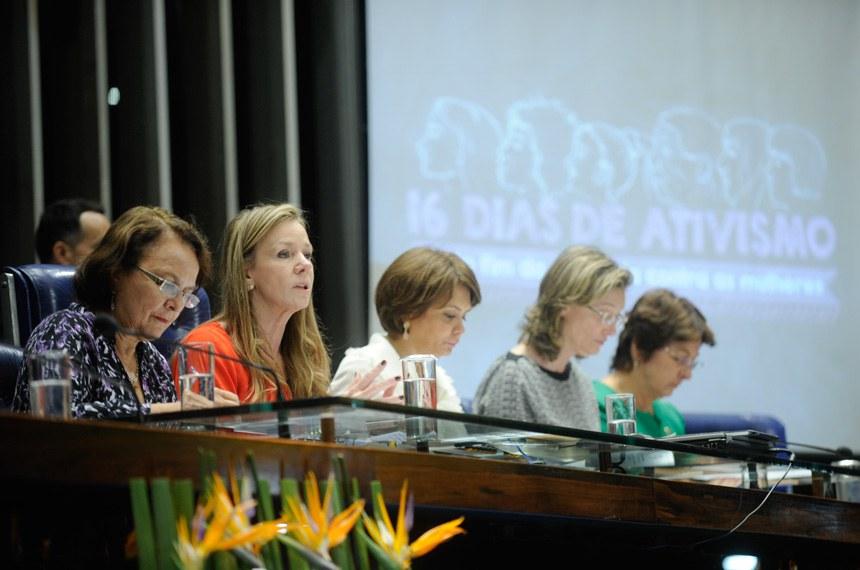 Congresso Nacional lança campanha de combate à violência contra a mulher (Foto: Senado Notícias)