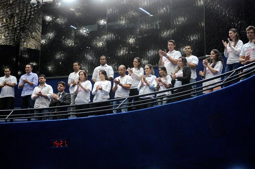 Representantes da Associação de Pais e Mães Separados (Apase), acompanharam a votação no Plenário