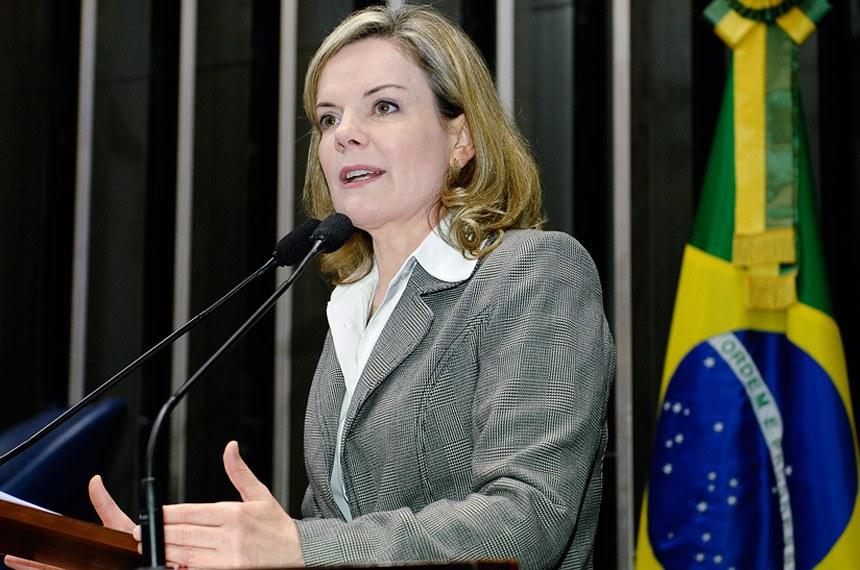 Gleisi critica governo Paraná por medidas para aumentar arrecadação