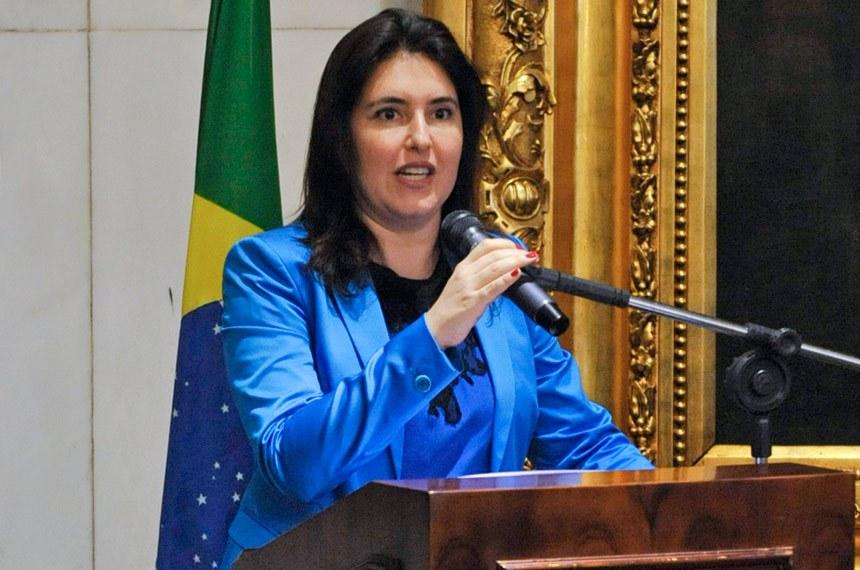 Simone Tebet, eleita presidente da comissão, destacou a sanção de lei que impõe penas mais graves para o feminicídio