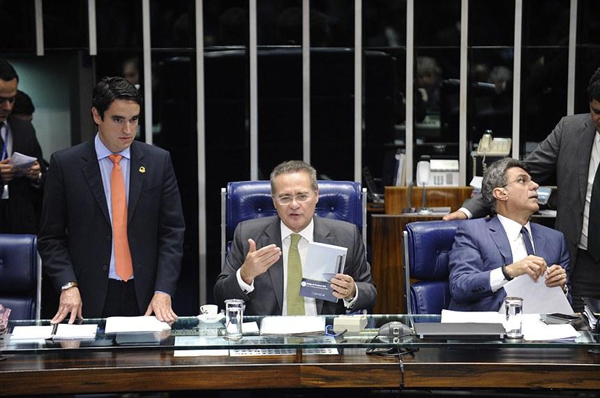 """""""Teremos Justiça mais célere, com claros ganhos para o cidadão brasileiro"""", diz o presidente do Senado, Renan Calheiros"""