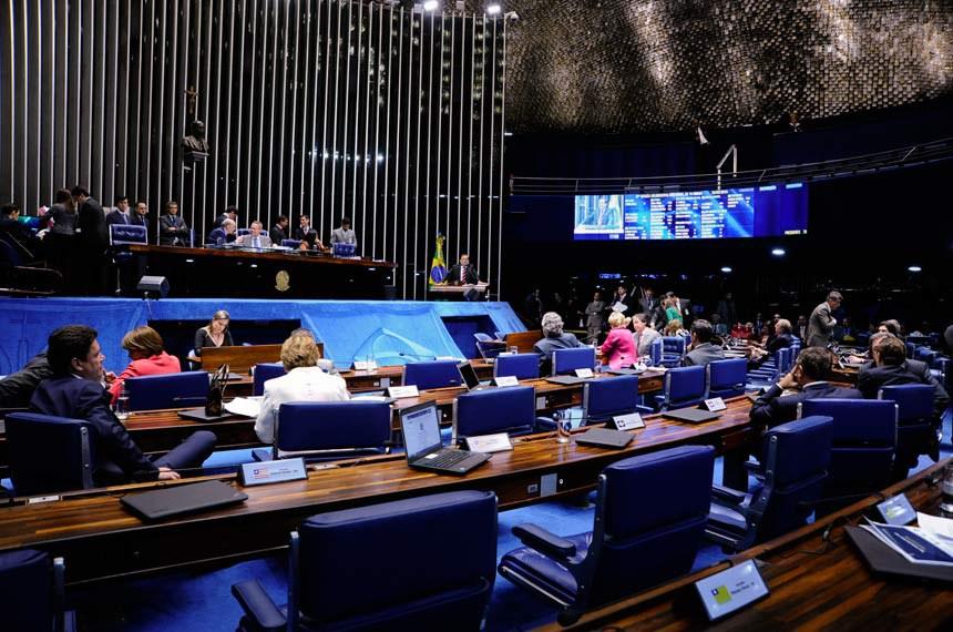 Sessão do último dia 25 de março, quando o projeto de mudança do indexador das dívidas estaduais começou a ser discutido pelo Plenário do Senado