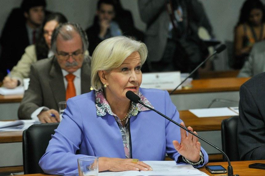Senadora Ana Amélia é autora do texto substitutivo aprovado