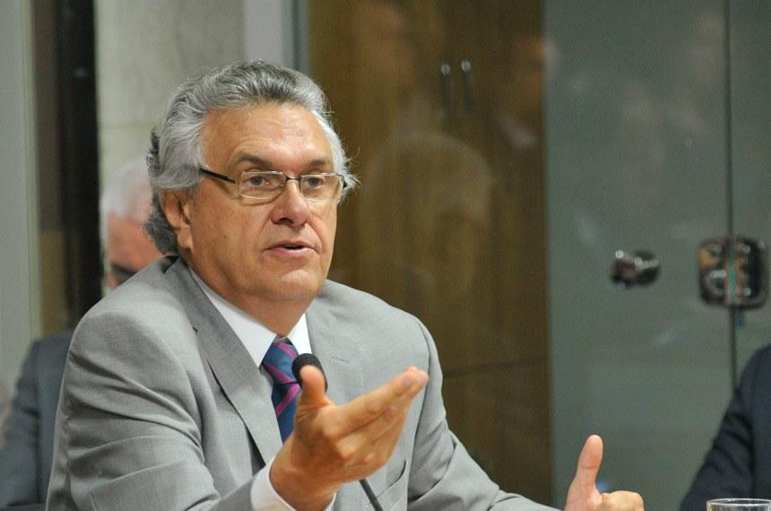 Ronaldo Caiado cobrou a indicação de fontes mais seguras de receitas para os fundos
