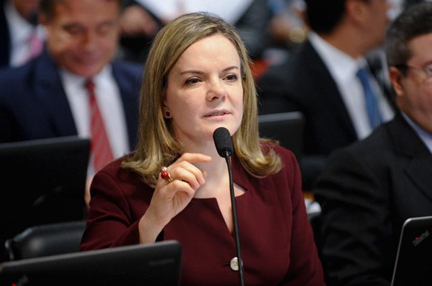 Gleisi Hoffmann é uma das senadoras autora da iniciativa