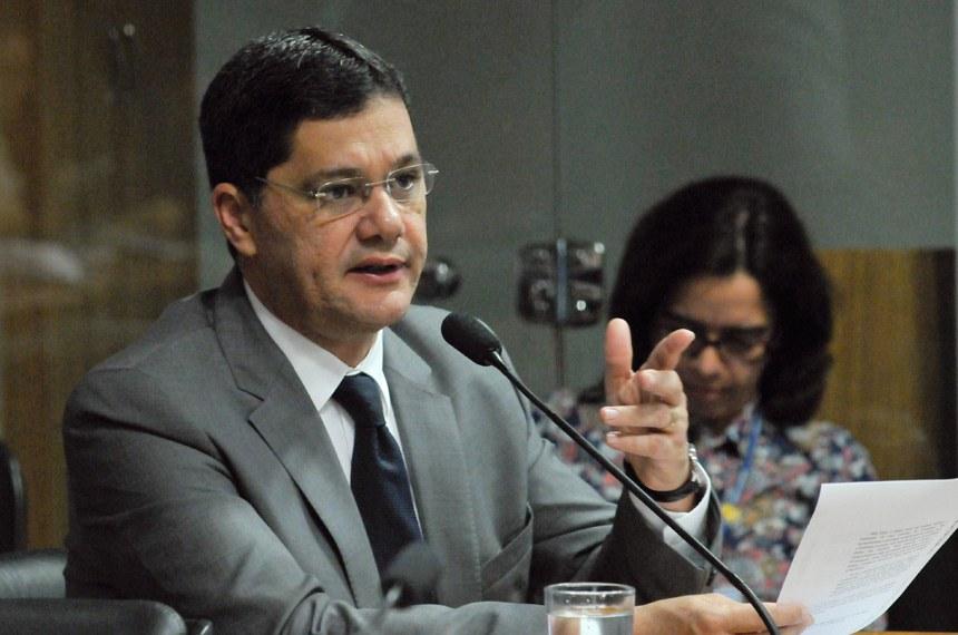 O senador Ricardo Ferraço foi relator do PLC 57/2010 na Comissão de Desenvolvimento Regional e Turismo