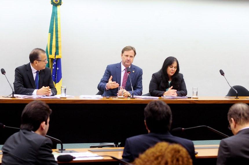 Gurgacz apresentou o relatório e o entregou à presidente da Comissão de Orçamento, Rose de Freitas