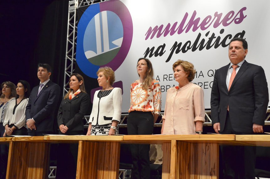 Lançamento da campanha Mais mulheres na política, em Goiânia