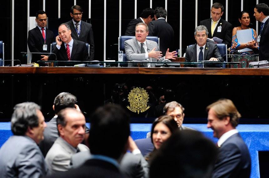 Sessão do Senado de 15 de dezembro de 2015, quando foi aprovado o projeto de repatriação dos recursos