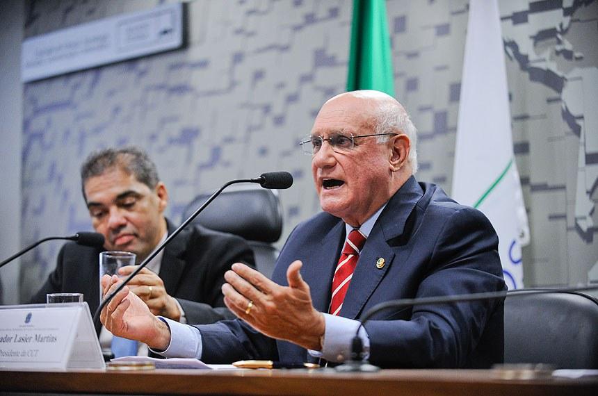 Lasier Martins foi escolhido pelo PDT para presidir a comissão em substituição a Cristovam Buarque, que deixou a legenda