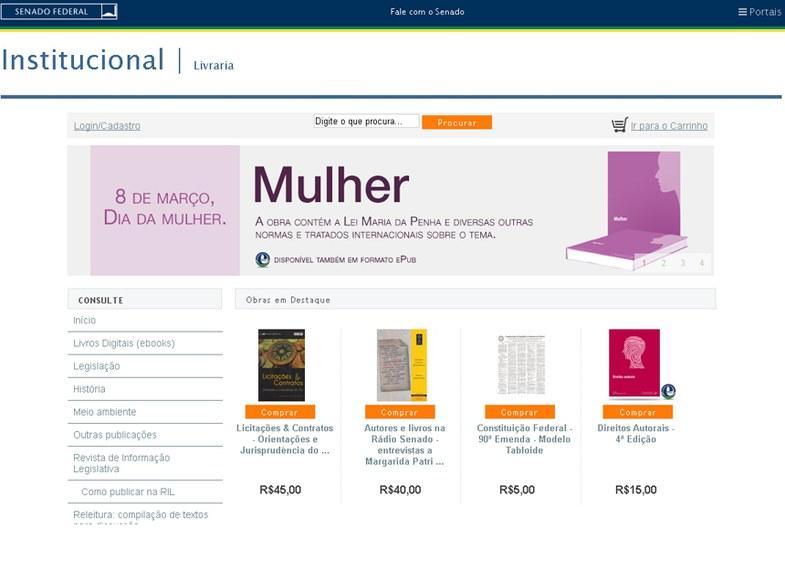 Em 2015, mais de 12 mil livros foram vendidos pela página da livraria na internet