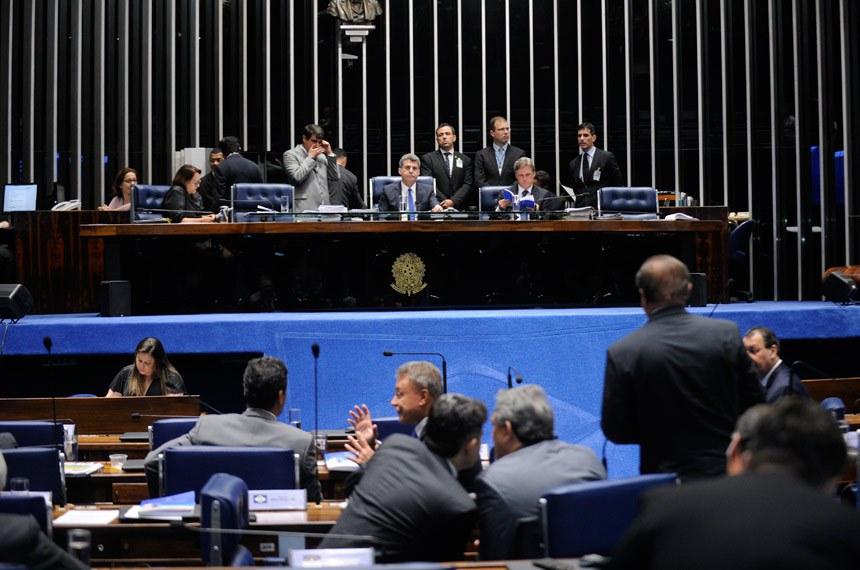 Plenário do Senado em 3 de fevereiro passado, quando o Estatuto da Primeira Infância foi aprovado