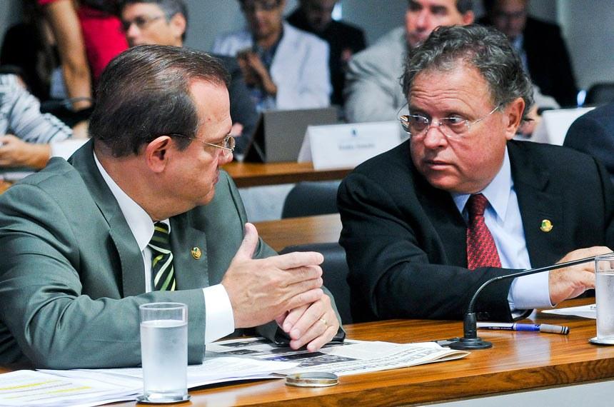 Os senadores Wellington Fagundes e Blairo Maggi