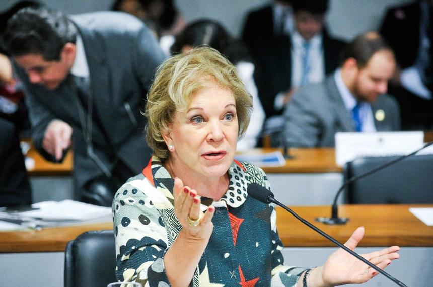 A senadora Marta Suplicy foi relatora do projeto na comissão