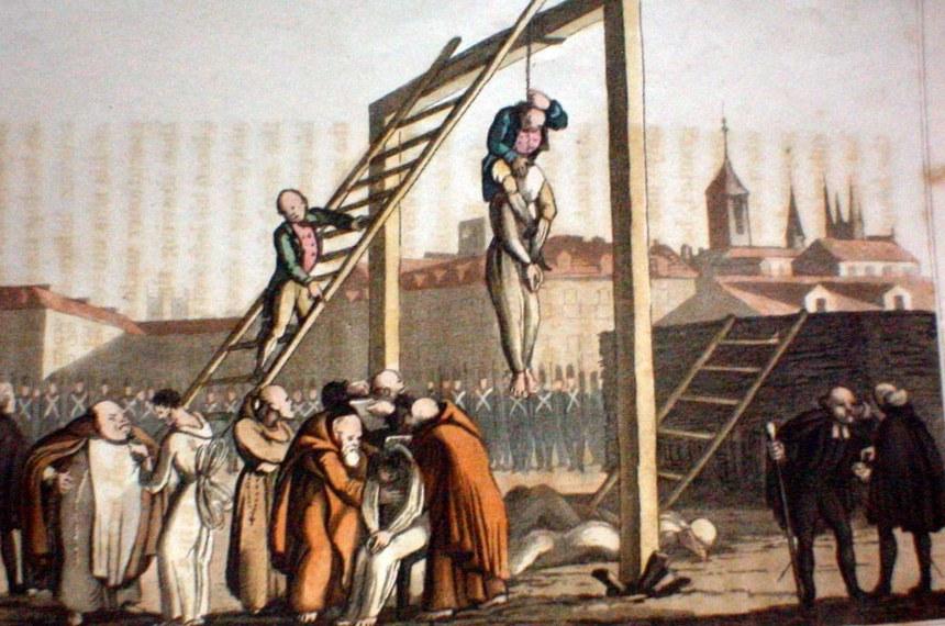 Na execução, algoz subia nos ombros do condenado para acelerar morte
