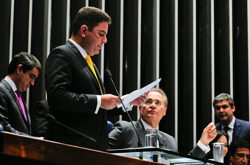 A leitura dos indicados para a comissão foi feita pelo senador Gladson Cameli