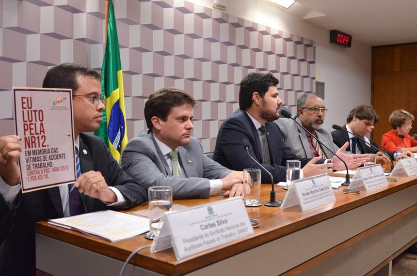 A prevenção de acidentes de trabalho foi tema de audiência pública promovida pela Comissão de Direitos Humanos e Legislação Participativa