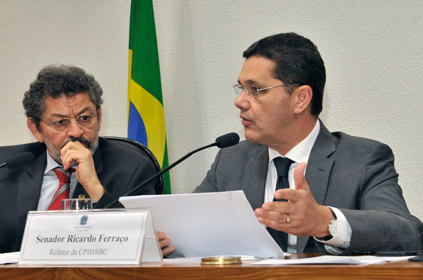 Ricardo Ferraço, relator, e o presidente da CPI, Paulo Rocha