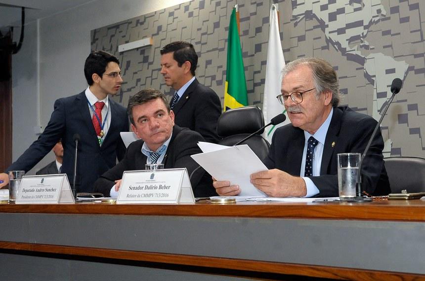 Dalírio Beber (PSDB-SC) acatou cinco emendas no relatório pela admissibilidade da Medida Provisória