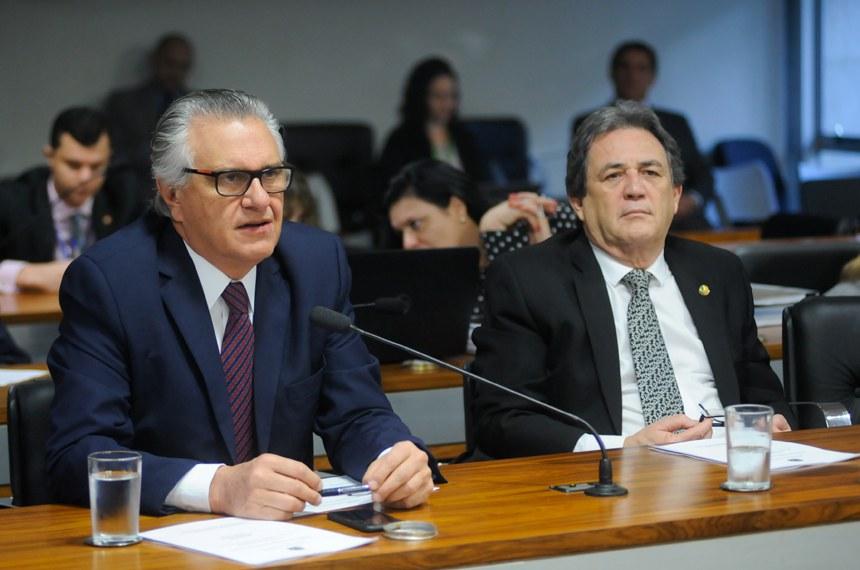 Autor do requerimento para a audiência, o senador Ronaldo Caiado (e) afirmou que o MAPA tem tido critérios distintos no tratamento dispensado aos haras