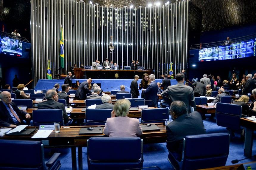 Plenário do Senado na sessão deliberativa de 8 de junho, quando foi aprovado o projeto