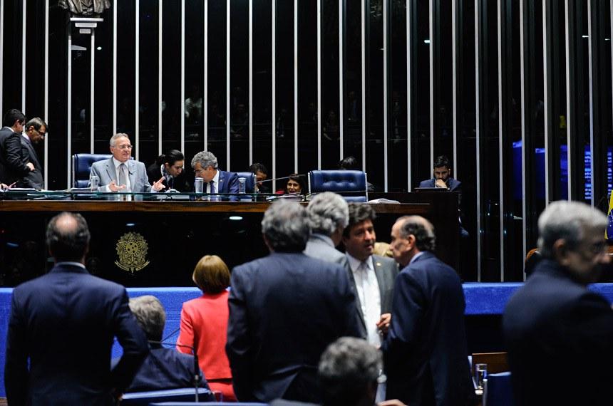 Sessão do Senado, em 29 de junho, na qual a MP foi aprovada com a garantia de veto à abertura total de capital estrangeiro nas empresas aéreas