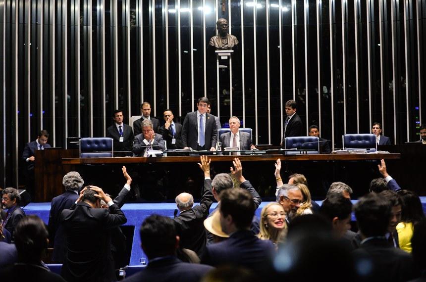 Sessão de 13 de julho em que o projeto foi aprovado