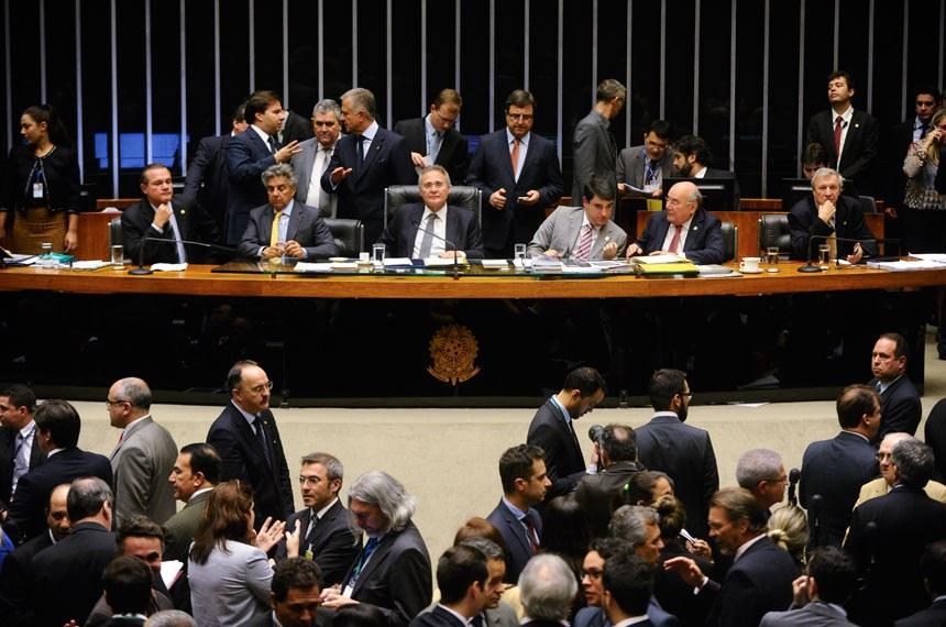 Sessão do Congresso Nacional de 23 de agosto, quando o PLN 3/2016 foi aprovado