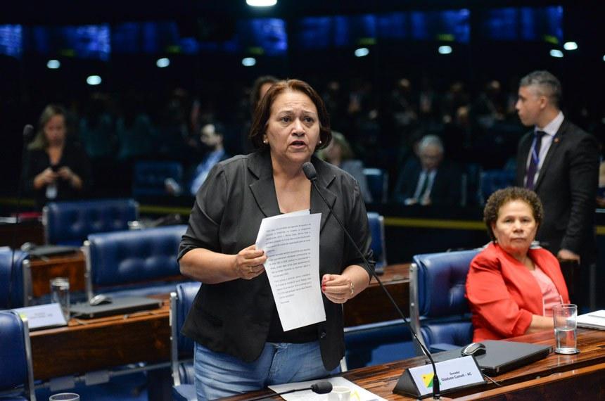 O projeto teve urgência de análise pelo Plenário por um requerimento de urgência apresentado pela senadora Fátima Bezerra (PT-RN)