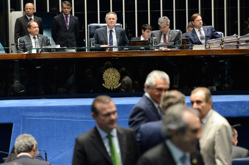 Plenário do Senado no último dia 8, quando foi aprovada a MP