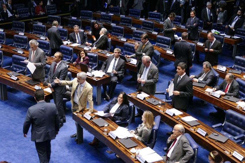 Plenário do Senado durante a votação da ampliação de prazo do Cadastro Ambiental Rural