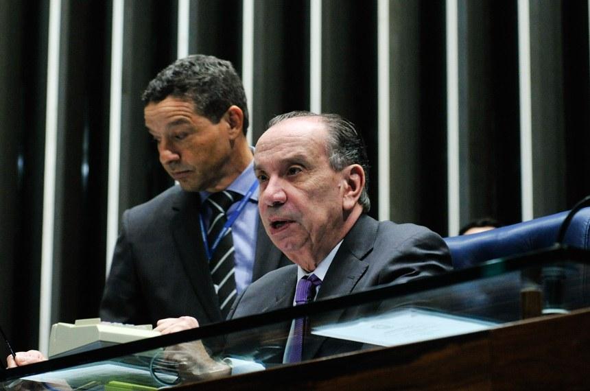 A sessão foi presidida pelo senador Aloysio Nunes Ferreira (PSDB-SP)