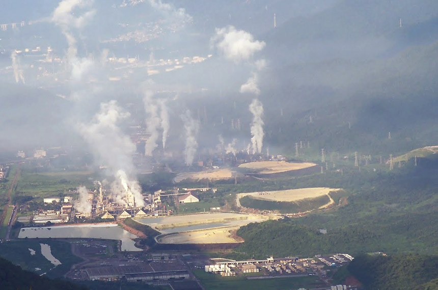 Vista de Cubatão Foto: Danúbia Ivanoff