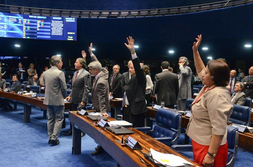 Plenário do Senado durante sessão deliberativa ordinária.   Foto: Ana Volpe/Agência Senado