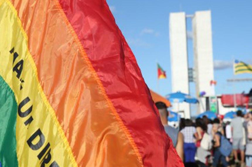 Brasília - Acontece a 19ª Parada do Orgulho LGBTS em Brasília, cujo o tema é: Respeito é ouro (Elza Fiuza/Agência Brasil)