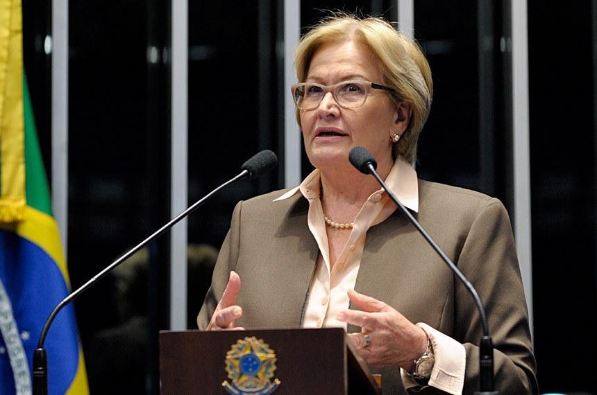 Plenário do Senado Federal durante sessão deliberativa ordinária.  Em discurso, senadora Ana Amélia (PP-RS).   Foto: Waldemir Barreto/Agência Senado