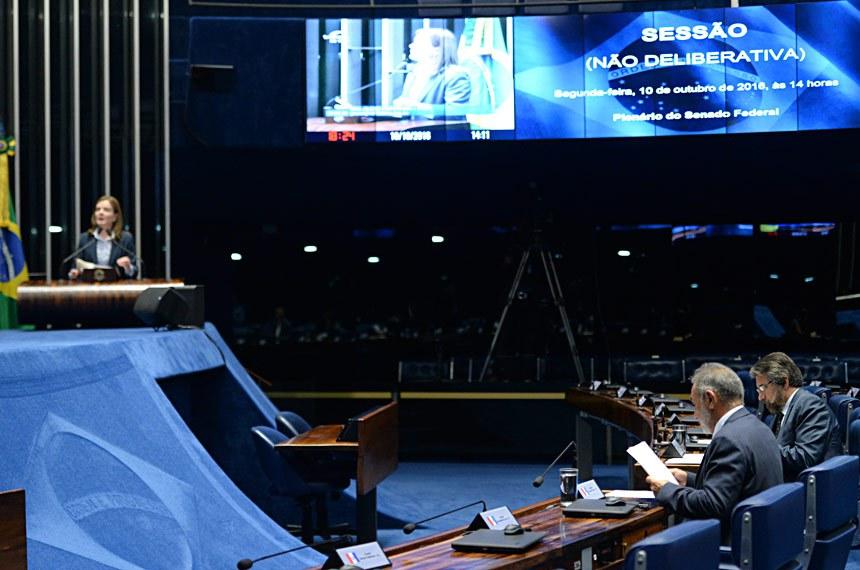 Plenário do Senado durante sessão não deliberativa.