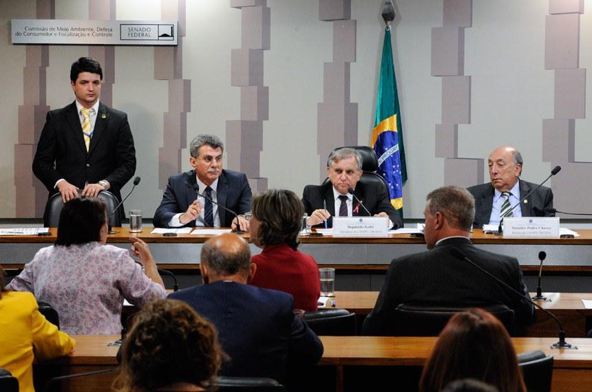 Comissão Mista da Medida Provisoria (CMMPV) que analisa a medida provisória da reforma do ensino médio (MP 746/2016).  Mesa: senador Romero Jucá (PMDB-RR); presidente da MP 746/2016, deputado Izalci (PSDB-DF); relator da MP 746/2016, senador Pedro Chaves (PSC-MS).  Foto: Edilson Rodrigues/Agência Senado